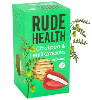 Rude Health | Chickpea & Lentil Crackers | 1 x 120g