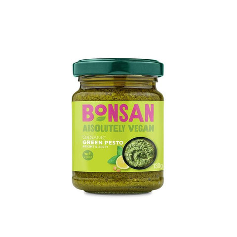 Bonsan | Organic Vegan Green Pesto | 1 X 130g. Sold By Superfood Market