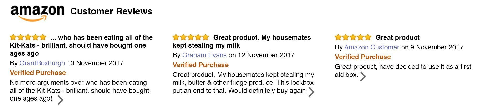 Amazon verified customer review