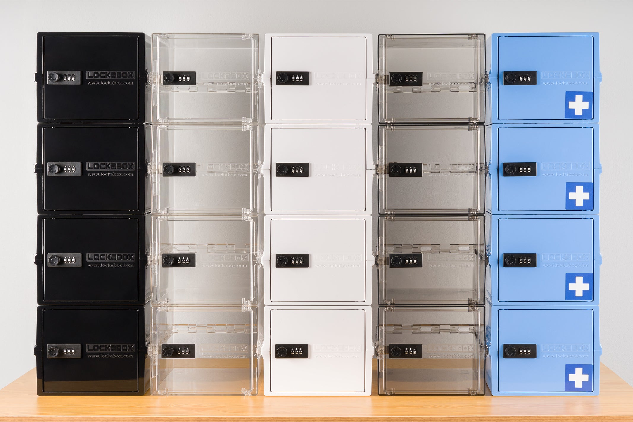 Lockable Storage Box Stacked In A Modular System. Mix and Match Portable Stacking System