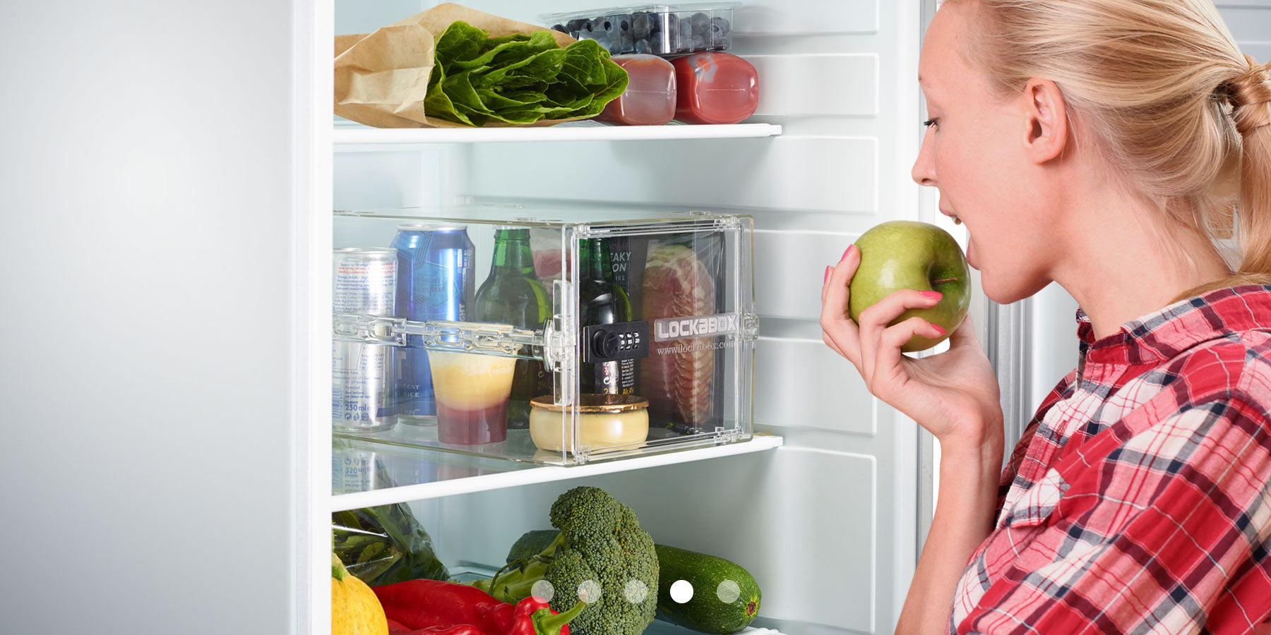 lockable one in a fridge securing food in student accommodation