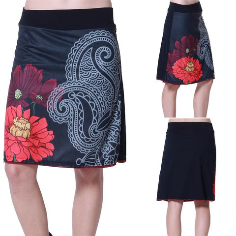 SMALL / NOIR,Hippy chick Skirt Uma,WeRFunky.