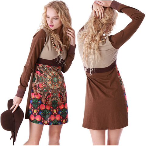 SMALL / MARRON,Hippy chick Dress Anika,WeRFunky.