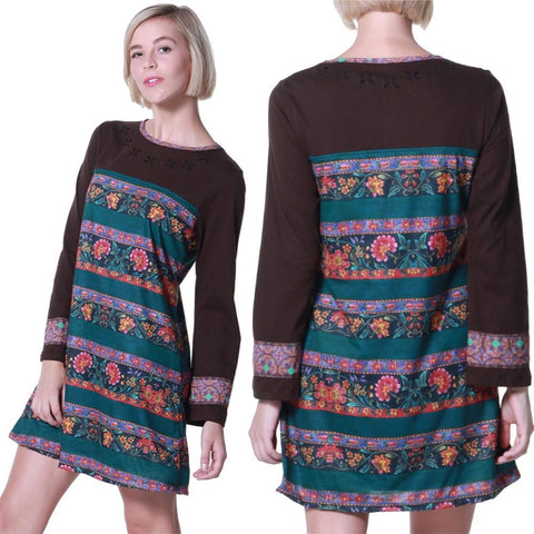 SMALL / BRUN,Hippy chick Dress Indra,WeRFunky.
