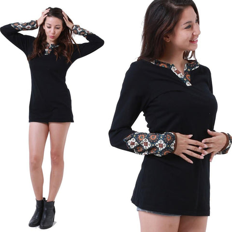 SMALL / NOIR,Hippy chick Tunic Lali,WeRFunky.