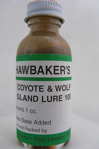 Hawbaker's - Coyote and Wolf Gland Lure #100 - 1oz Lure