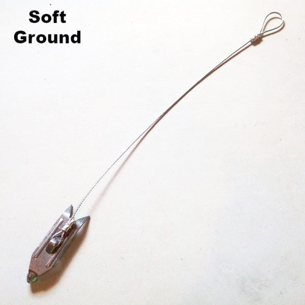 "Berkshire Cable Stake with 12"" of 3/32"" Cable (Soft Ground End)-Trap Shack Company"