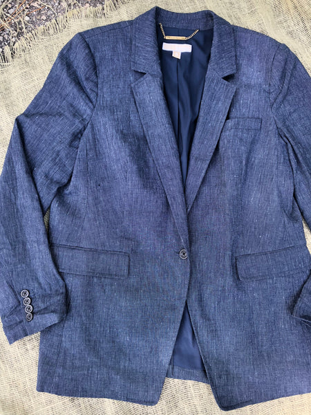 MK Denim Look Blazer Size 16