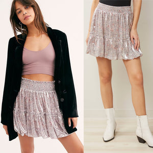 FREE PEOPLE In a Bubble Satin Mini Skirt NWT XS