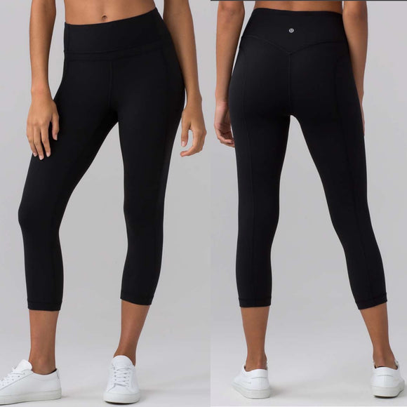 Lululemon Black Pushing Limits Crop (Nulo 21