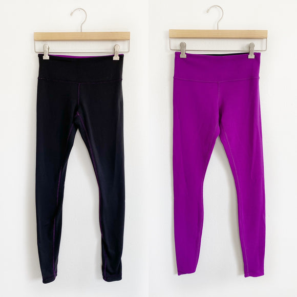 Lululemon Wunder Under Full Length Leggings Reversible- Size 4