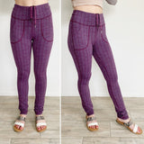 Lululemon Plum Skinny Will Textured Pant Size 6/8