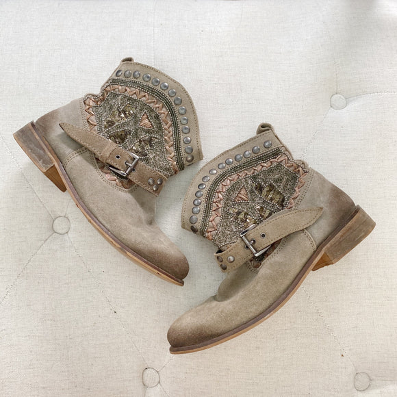 Naughty Monkey Western Beaded Botties 6.5