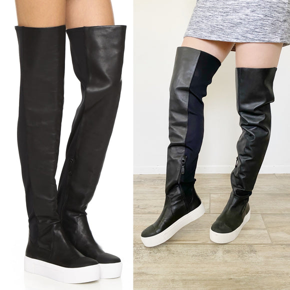 DKNY Brenda Over the Knee Sneaker Boots 8