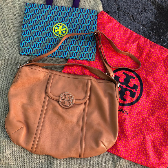 Tory Burch Leather Satchel Crossbody