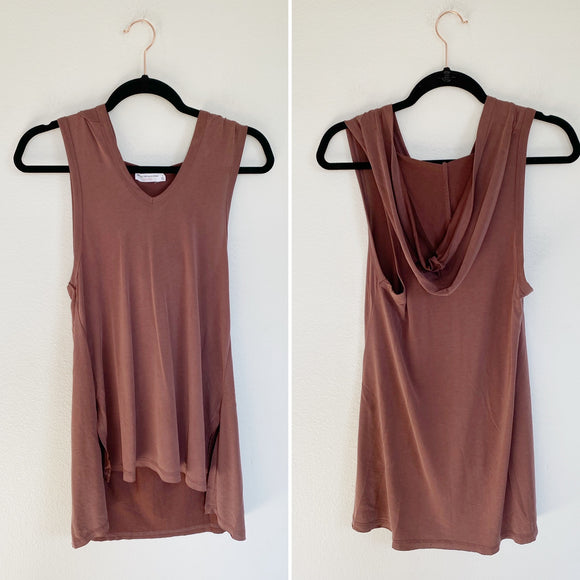 Hooded Pullover Sleeveless Tunic Tank Small