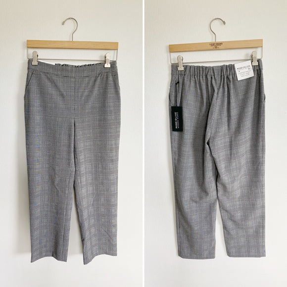Rose + Olive Modern Works Plaid Copped Dress Pants 6
