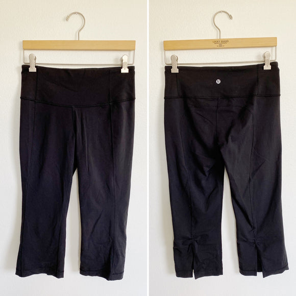 Lululemon Cropped Black Leggings Size 8