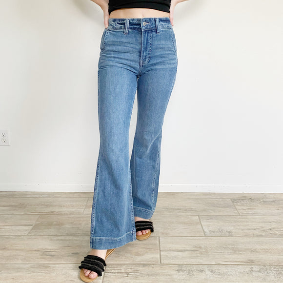 J. Crew Bell Bottoms Wide Leg Trouser Flare Jeans NWT 24