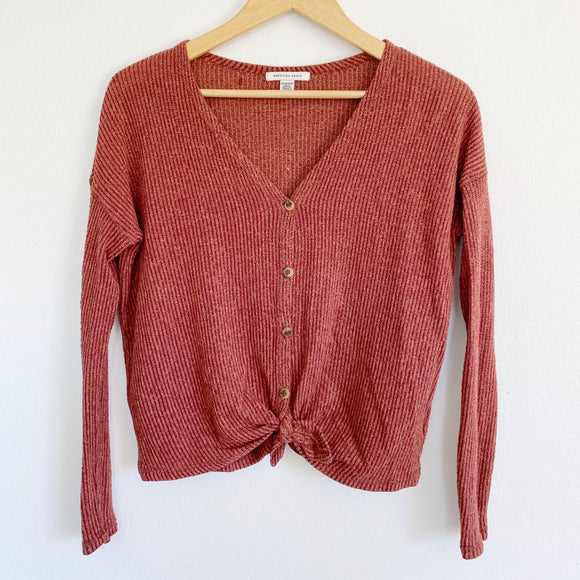 American Eagle Henley Knit Long Sleeve XS