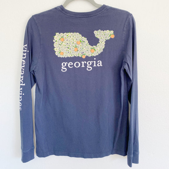 Kids Vineyard Vines Georgia Peach Long Sleeve Large