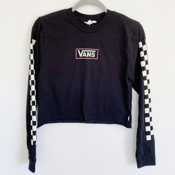 VANS off the wall Graphic Crop Long Sleeve Top XS