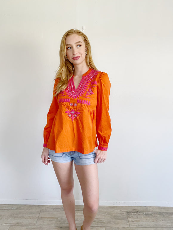 Tory Burch Claudia Tunic in Tangerine NWT 2