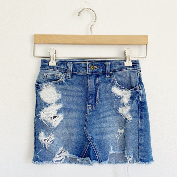 Hollister High-rise Denim Jean Skirt 00