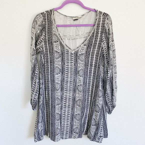 ROXY Boho black & white Tunic XS