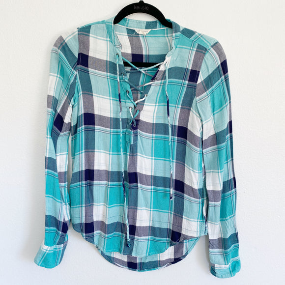 Aeropostale Flannel Plaid Long Sleeve XS
