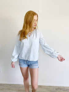 Universal Thread Chambray Long Sleeve Top Small