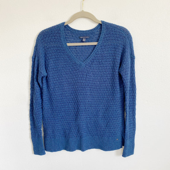 American Eagle Knit Navy Sweater XS