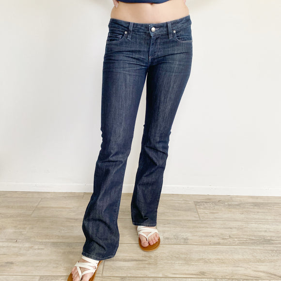 Paige Classic Rise Bootcut Jeans 28
