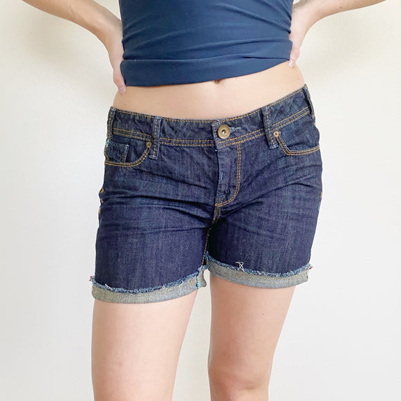 MEK DENIM Jean Cuffed Shorts 27