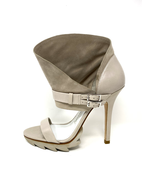 Camilla Skovgaard Beige Leather Platform Stiletto Heels 38