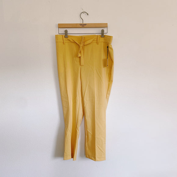 Jules & Leopold Yellow Slim Trouser Pants New Large