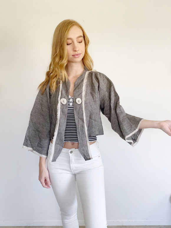 Oh My Gauze! Linen Cotton Jacket NWT