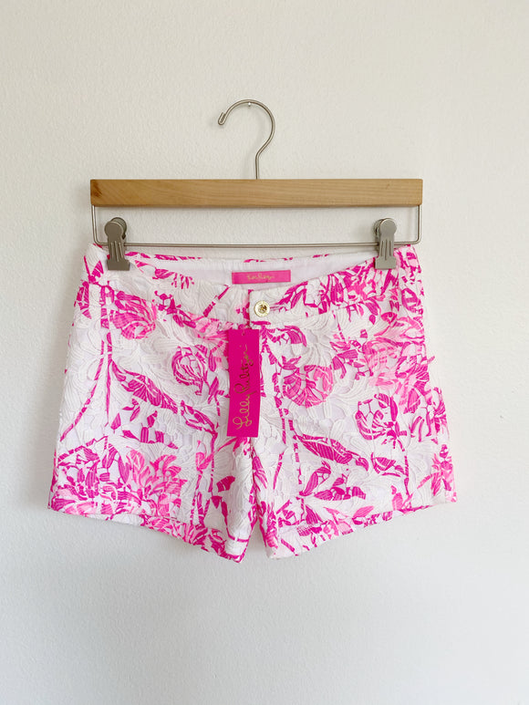 Lilly Pulitzer Kelly Lace Shorts NWT 00