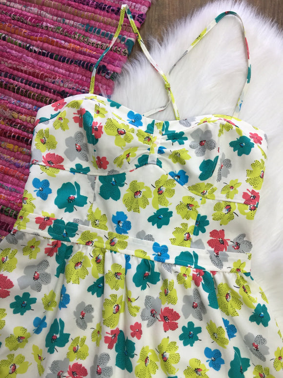 AEO Spring Floral Dress - NWT