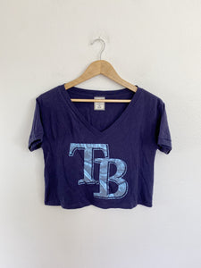 PINK by Victoria's Secret Tampa Bay Rays Crop Tee XS