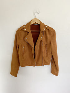 SHEIN faux suede Moto Jacket Small