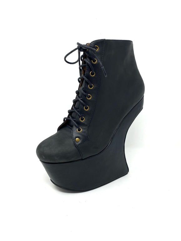 Jeffrey Campbell Havana Last Nightlita Platform Leather Boots 8
