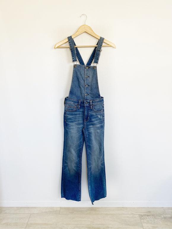 American Eagle Hi-Rise Crop Flare Overalls 00