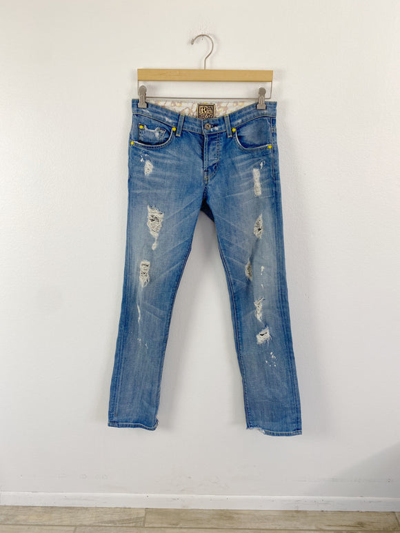 Rich & Skinny distressed light wash Jeans 26