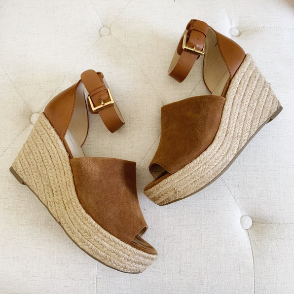 Marc Fisher Cala Espadrille Platform Wedge Sandal 10