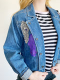 Vintage Z Cararicci Denim Embroidered Jean Jacket 3