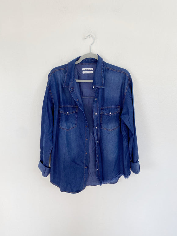 ONE X ONE TEASPOON denim button-down top Medium