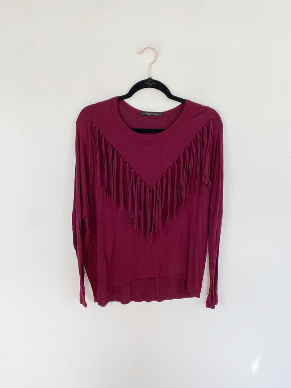 Rags II Riches Fringe Top Medium