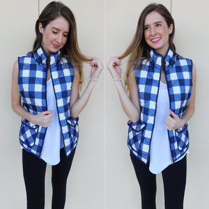 Ralph Lauren Blue White Vest