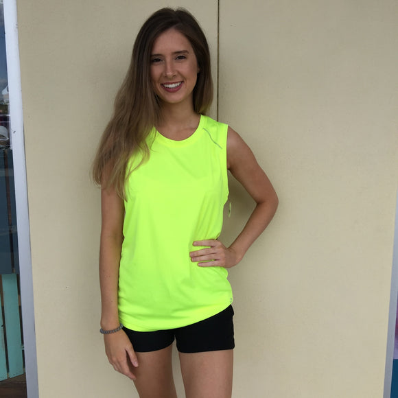 Champion Neon Yellow Semi Fitted Tank